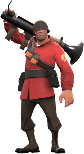 TF2 soldier with bazooka