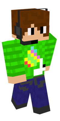 Minecraft character with headset